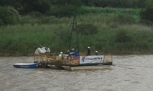 Core drilling on the Tugela River