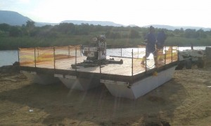 Floating platform for Geotechnical drilling